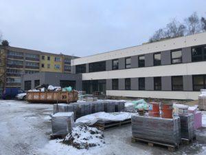 Kopřivnické Centrum Pětka ve výstavbě